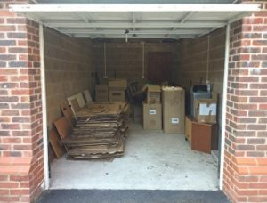 Garage filled with packaging